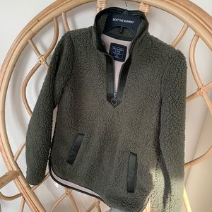 Abercrombie & Fitch Sherpa/Teddy Pullover